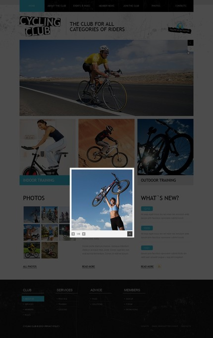 ADOBE Photoshop Template 54382 Home Page Screenshot