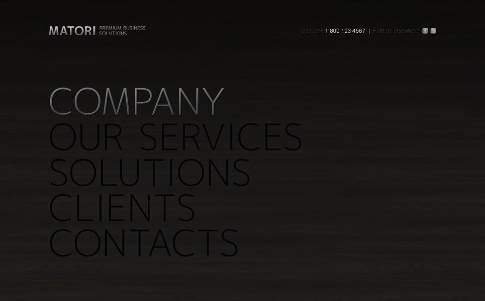 Szablon PSD #54385 na temat: biznes i usługi New Screenshots BIG
