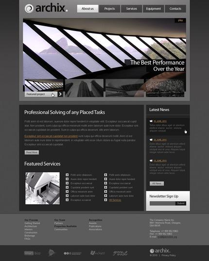 PSD макет сайта №54386