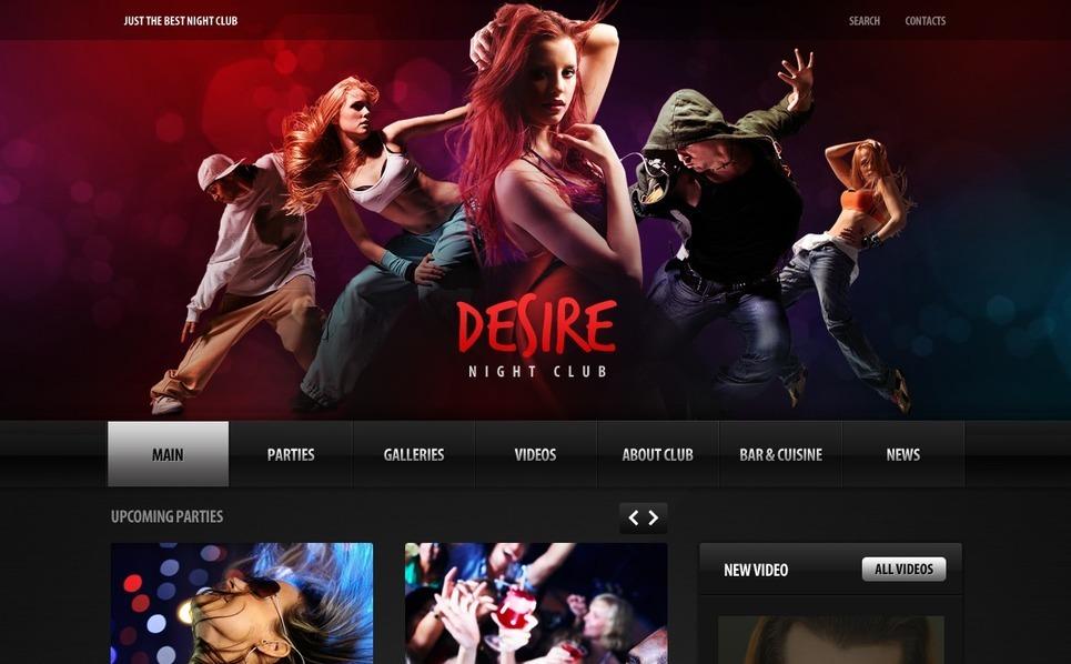 PSD шаблон на тему нічний клуб New Screenshots BIG