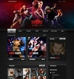 Night Club PSD  Template 54387