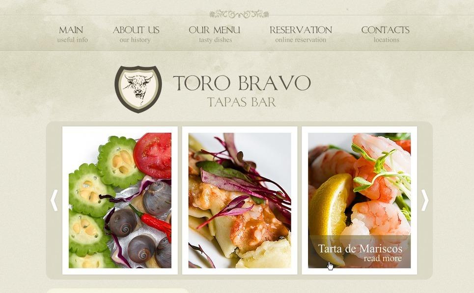 PSD шаблон №54390 на тему ресторан тапас New Screenshots BIG