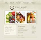 Cafe & Restaurant PSD  Template 54390