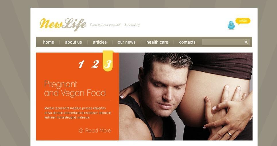 PSD šablona Těhotnost New Screenshots BIG