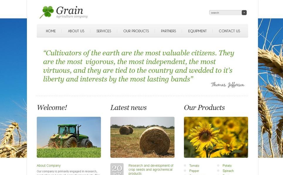 Plantilla PSD #54393 para Sitio de Agricultura New Screenshots BIG