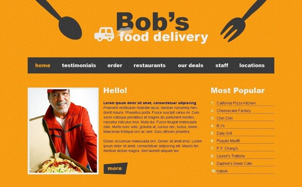 Plantilla PSD #54394 para Sitio de Catering New Screenshots BIG