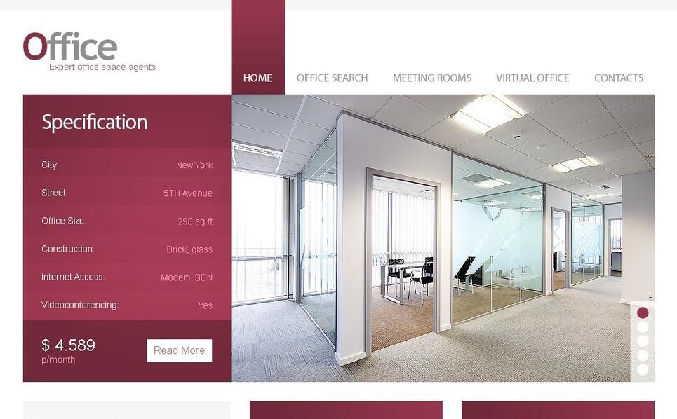 办公室网站PSD模板 New Screenshots BIG
