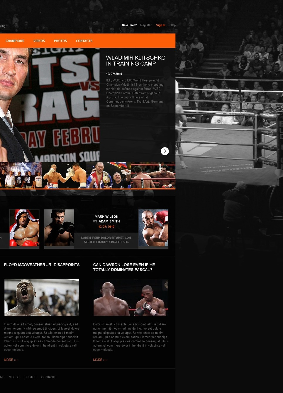 Boxing PSD Template New Screenshots BIG