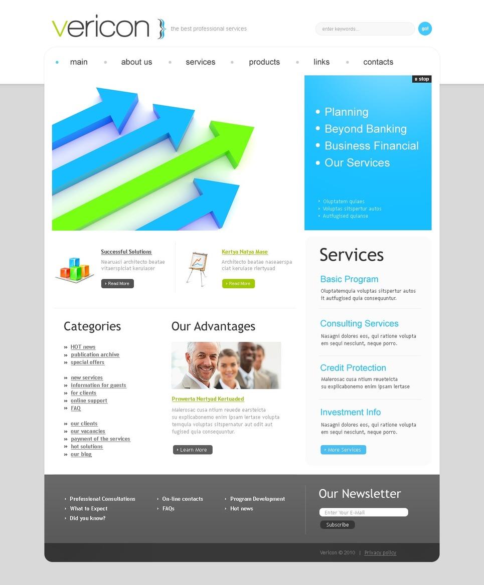 Business psd template 54333 business psd template new screenshots big accmission Gallery