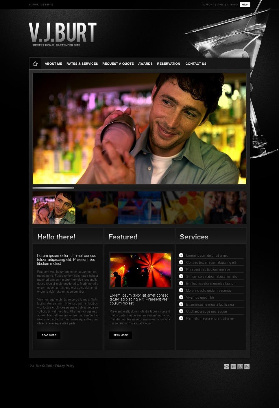 Cocktail Bar PSD Template New Screenshots BIG