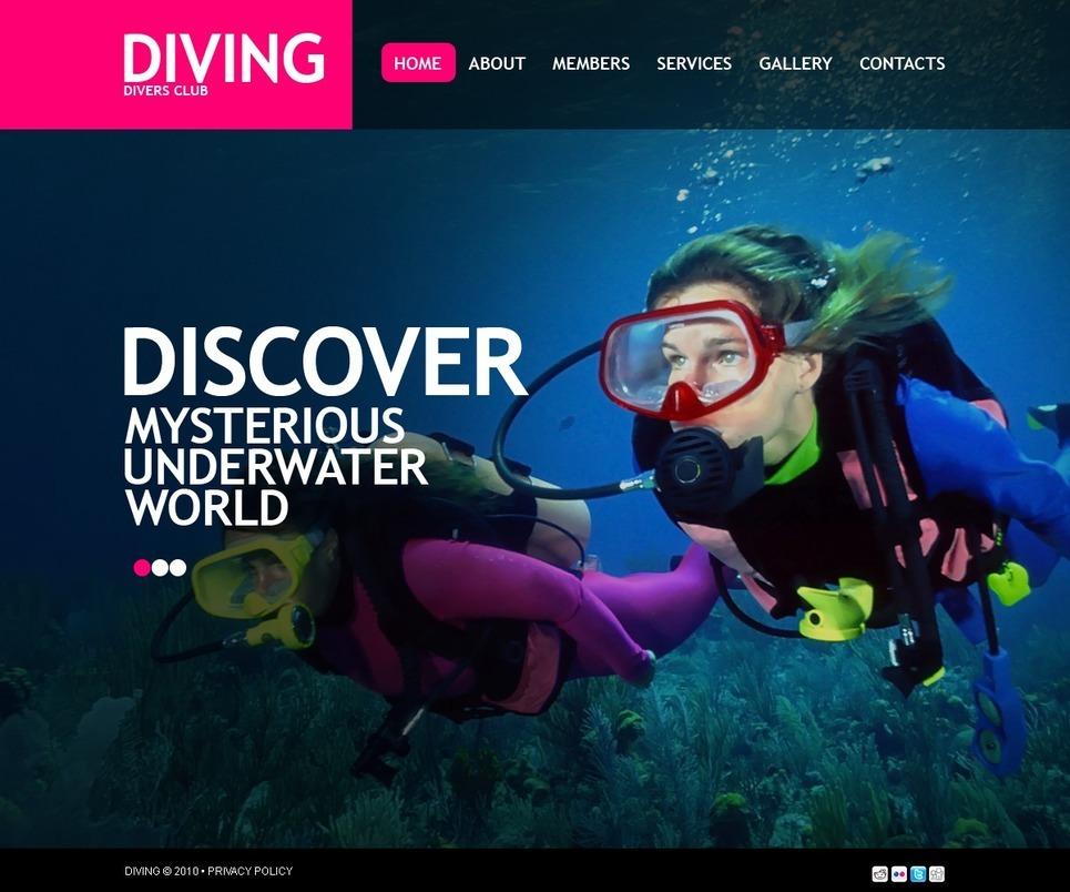 Diving PSD Template New Screenshots BIG