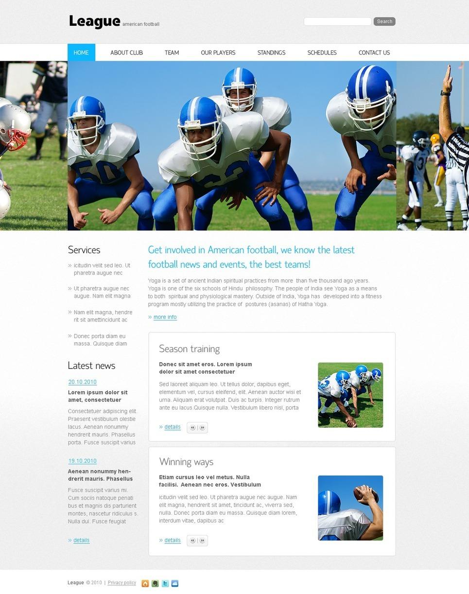 Football PSD Template New Screenshots BIG