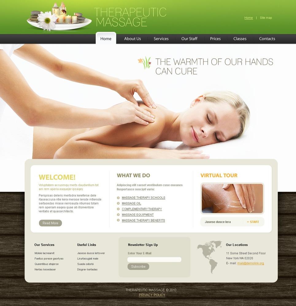 massage price list template - massage salon psd template 54369