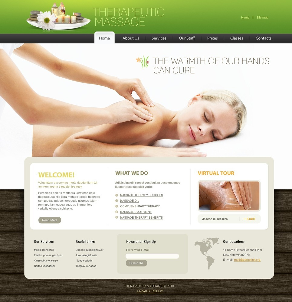 Massage Salon PSD Template New Screenshots BIG