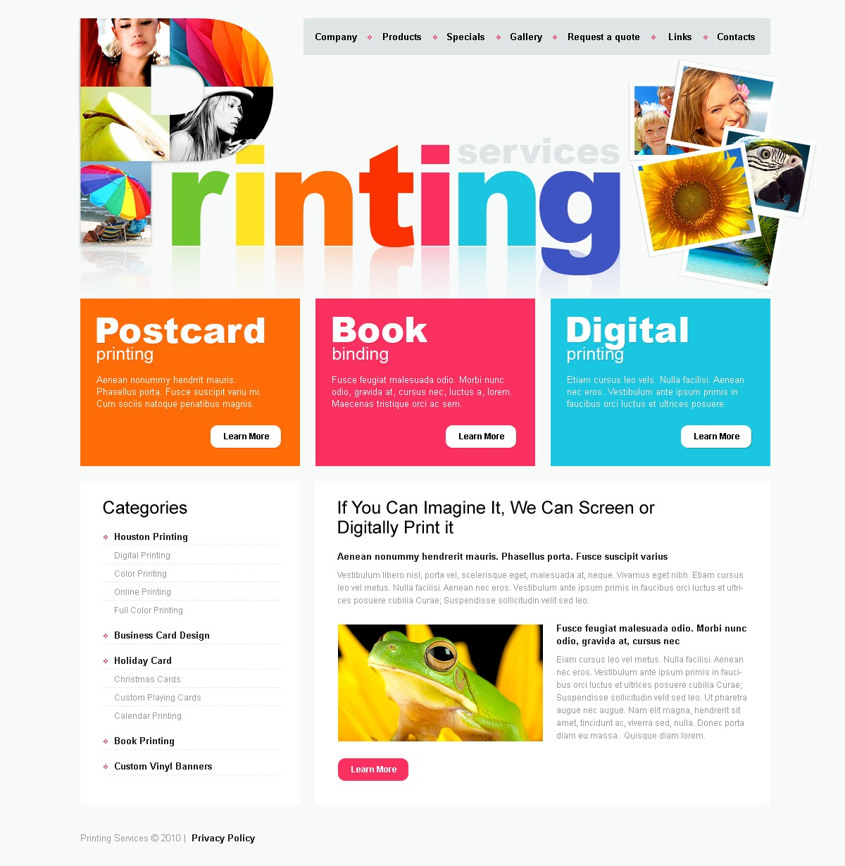 print shop psd template