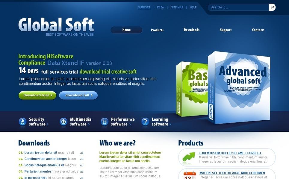 PSD шаблон №54311 на тему компания программного обеспечения New Screenshots BIG