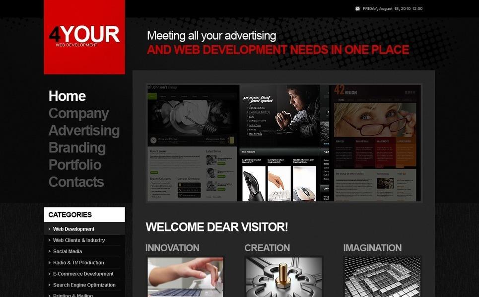 PSD Template over Web Ontwikkeling New Screenshots BIG