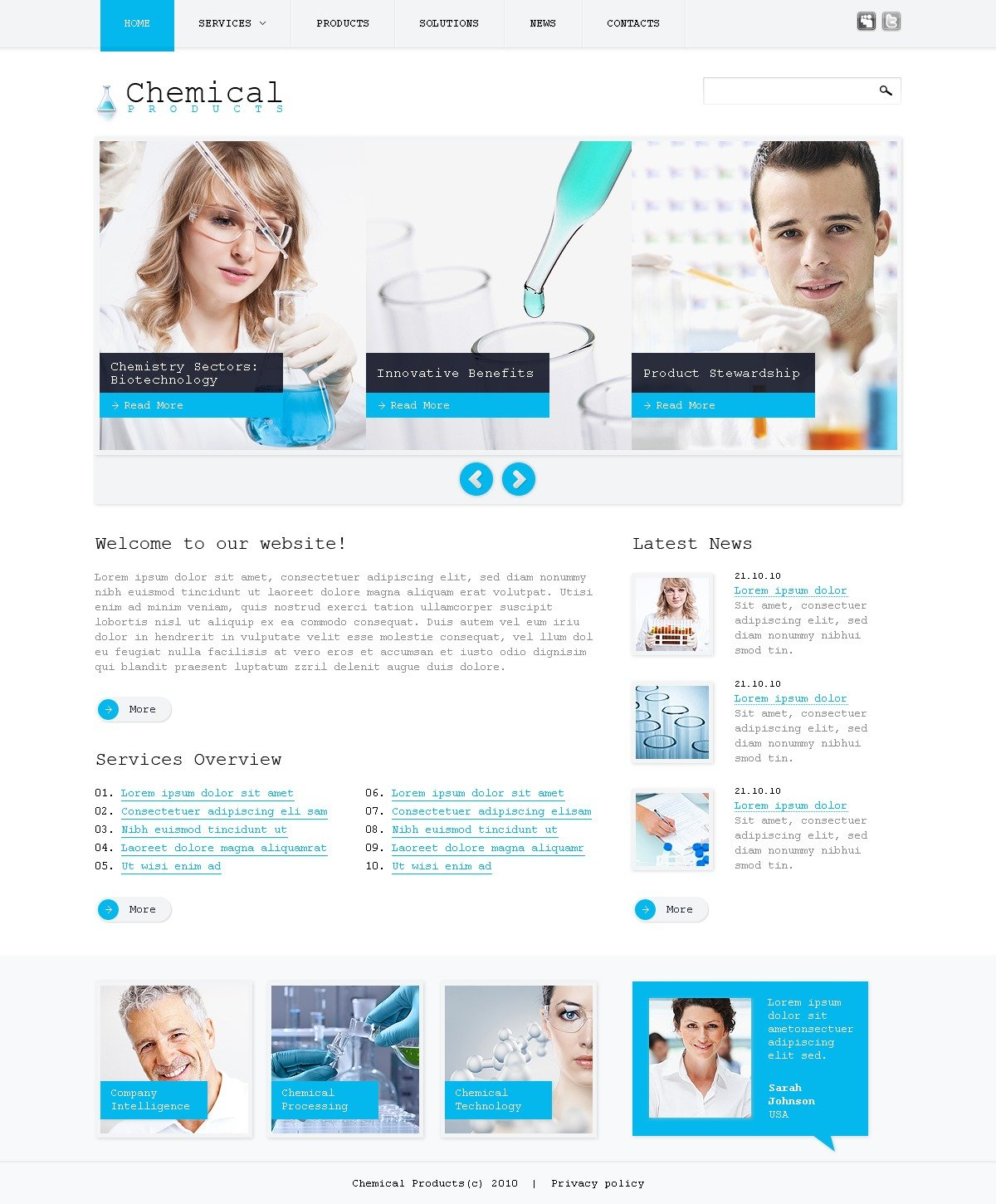Science PSD Template