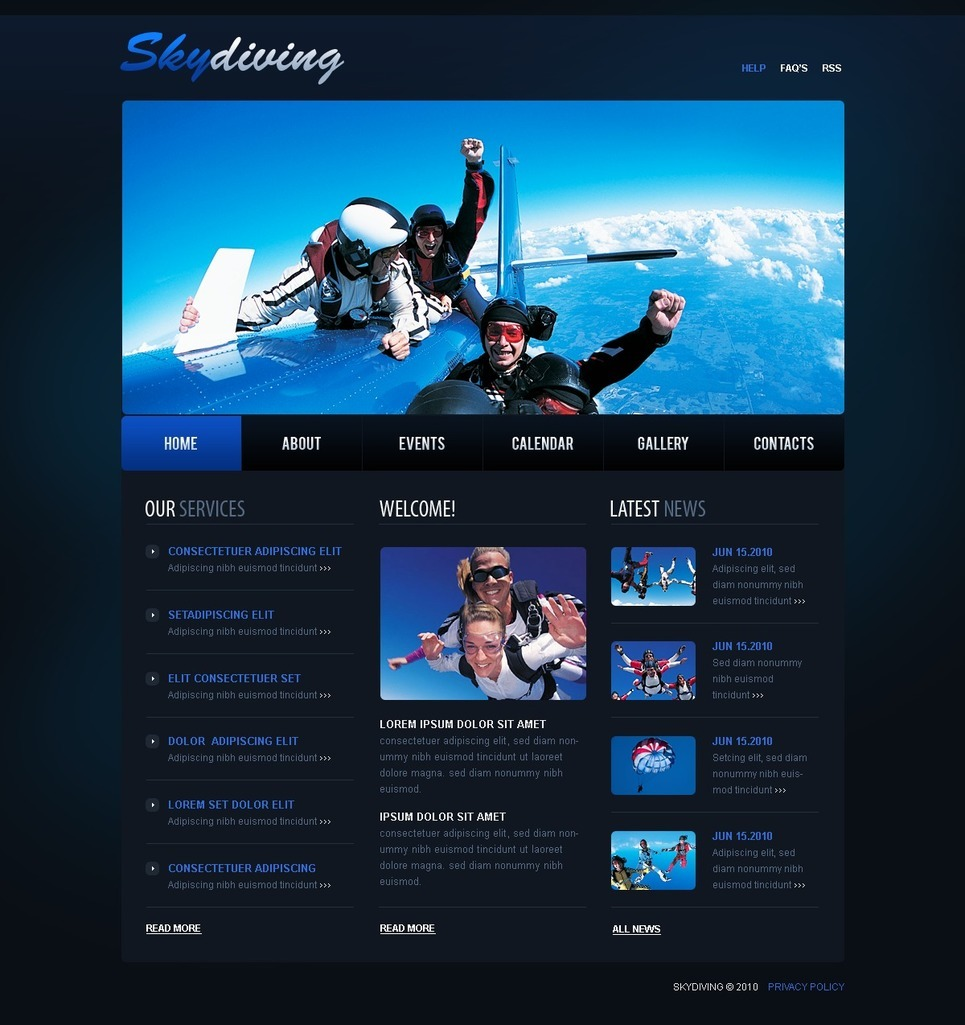 Skydiving PSD Template New Screenshots BIG