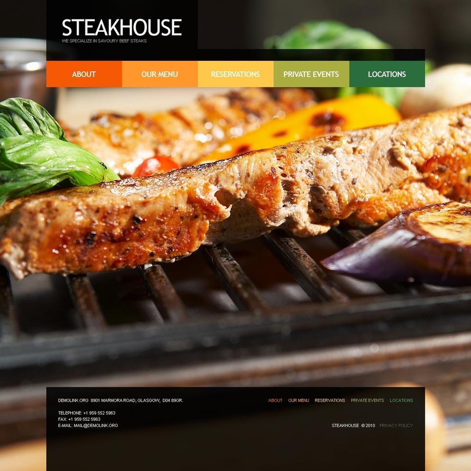 Steakhouse PSD Template New Screenshots BIG