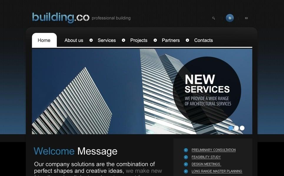 Plantilla PSD #54401 para Sitio de Empresa de construcción New Screenshots BIG
