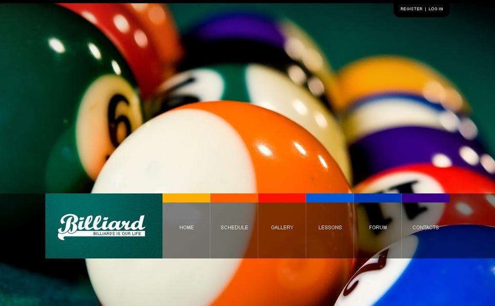 Template Photoshop  para Sites de Bilhar №54403 New Screenshots BIG