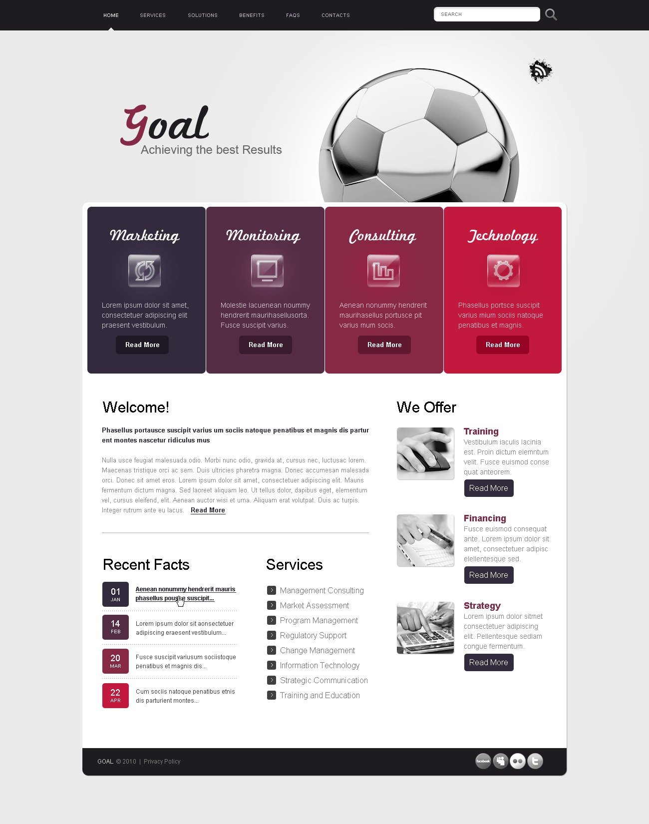 The Goal Business Company PSD Design 54405, one of the best PSD templates of its kind (business, wide), also known as goal business company PSD template, corporate solutions PSD template, innovations PSD template, contacts PSD template, service PSD template, support PSD template, information dealer PSD template, stocks PSD template, team PSD template, success PSD template, money PSD template, marketing PSD template, director PSD template, manager PSD template, analytics PSD template, planning PSD template, limited PSD template, office PSD template, sales and related with goal business company, corporate solutions, innovations, contacts, service, support, information dealer, stocks, team, success, money, marketing, director, manager, analytics, planning, limited, office, sales, etc.