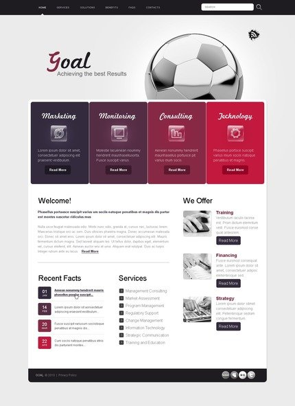 ADOBE Photoshop Template 54405 Home Page Screenshot