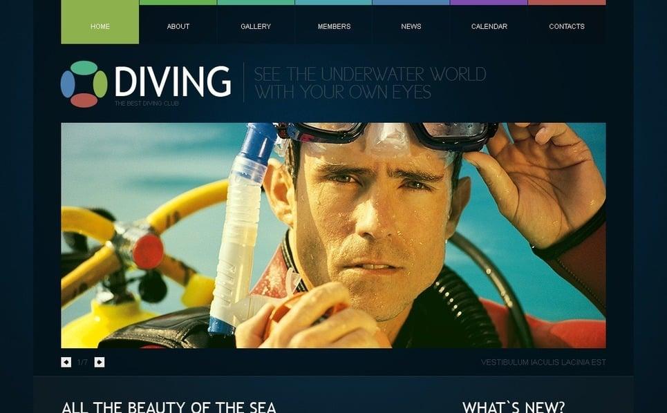 PSD šablona Potápění New Screenshots BIG