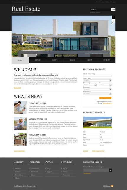 PSD макет сайта №54408