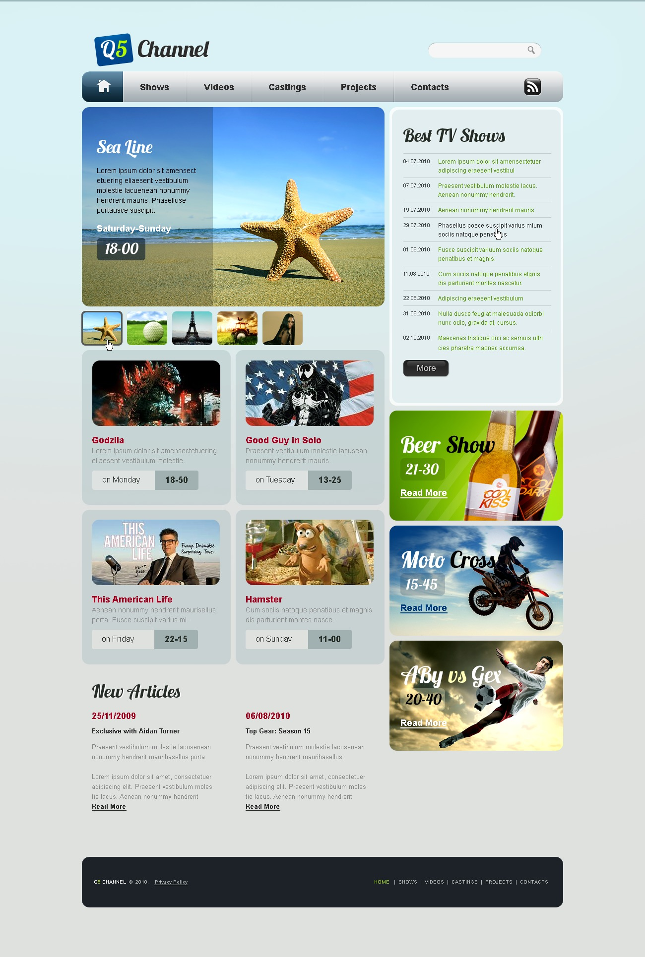 The Q5 Chanel PSD Design 54409, one of the best PSD templates of its kind (media, wide, jquery), also known as q5 chanel PSD template, shows PSD template, videos PSD template, castings PSD template, projects PSD template, services PSD template, travel PSD template, movies PSD template, reviews and related with q5 chanel, shows, videos, castings, projects, services, travel, movies, reviews, etc.