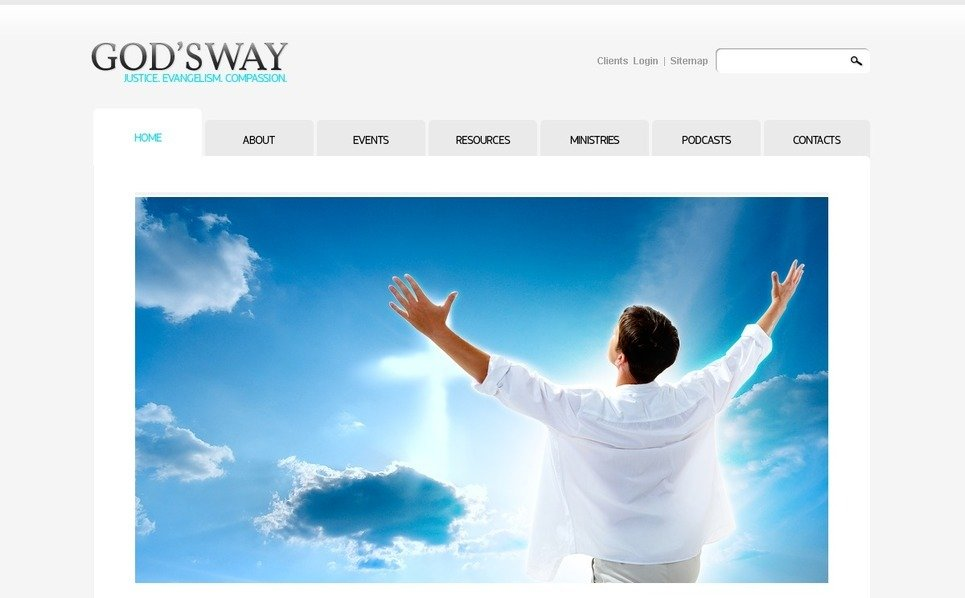 Template PSD  #54412 per Un Sito di Religiosi New Screenshots BIG