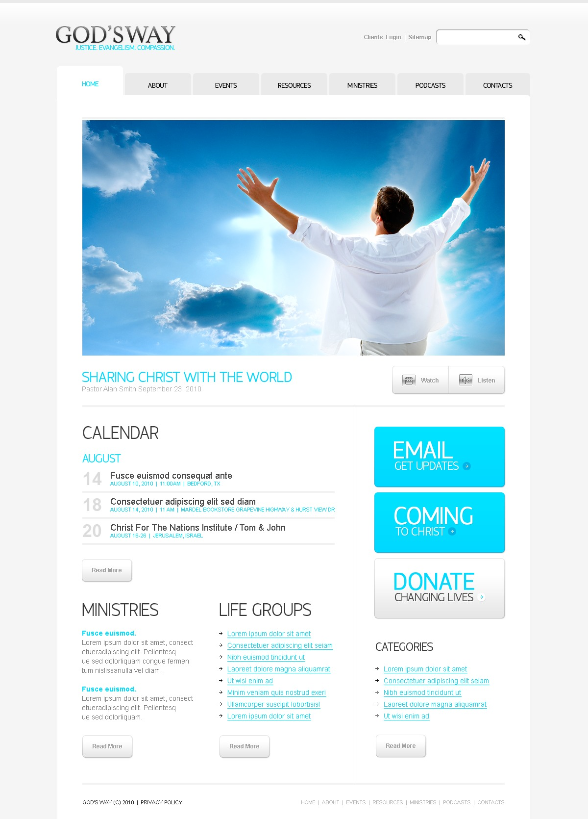 The God Way Church PSD Design 54412, one of the best PSD templates of its kind (religious, wide), also known as God Way church PSD template, religious PSD template, religion PSD template, God family care PSD template, education PSD template, Bible mission PSD template, community PSD template, sermon PSD template, priest PSD template, clergyman PSD template, choir PSD template, health PSD template, Sunday school PSD template, archive PSD template, credence PSD template, faith PSD template, belief in God kindness PSD template, confession PSD template, homily PSD template, sermon PSD template, help PSD template, support PSD template, Christian catholic PSD template, prayer and related with God Way church, religious, religion, God family care, education, Bible mission, community, sermon, priest, clergyman, choir, health, Sunday school, archive, credence, faith, belief in God kindness, confession, homily, sermon, help, support, Christian catholic, prayer, etc.