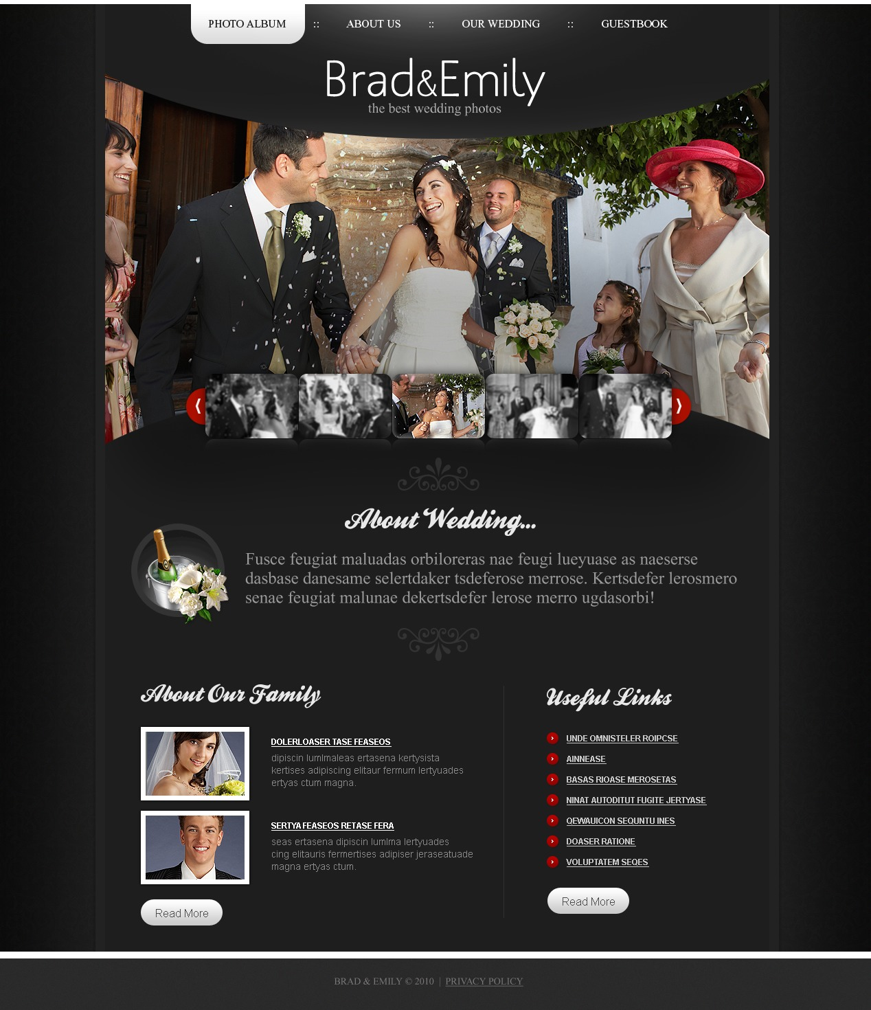 The Brad Emily Wedding PSD Design 54415, one of the best PSD templates of its kind (wedding, most popular, flash 8, wide), also known as Brad Emily wedding PSD template, album PSD template, page PSD template, photos PSD template, gallery PSD template, husband PSD template, wife PSD template, history PSD template, first PSD template, dating PSD template, engagement PSD template, bride PSD template, groom PSD template, family PSD template, ceremony PSD template, rings PSD template, flowers PSD template, guestbook PSD template, baby PSD template, friends PSD template, happiness PSD template, love PSD template, heart PSD template, couple PSD template, partners PSD template, veil PSD template, success PSD template, lover PSD template, dress PSD template, sweetheart PSD template, honey PSD template, moon PSD template, marriage and related with Brad Emily wedding, album, page, photos, gallery, husband, wife, history, first, dating, engagement, bride, groom, family, ceremony, rings, flowers, guestbook, baby, friends, happiness, love, heart, couple, partners, veil, success, lover, dress, sweetheart, honey, moon, marriage, etc.