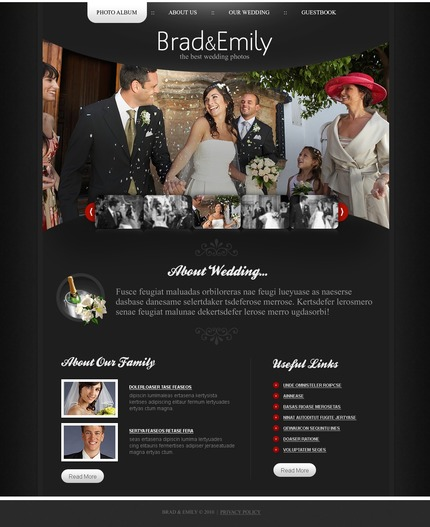 ADOBE Photoshop Template 54415 Home Page Screenshot