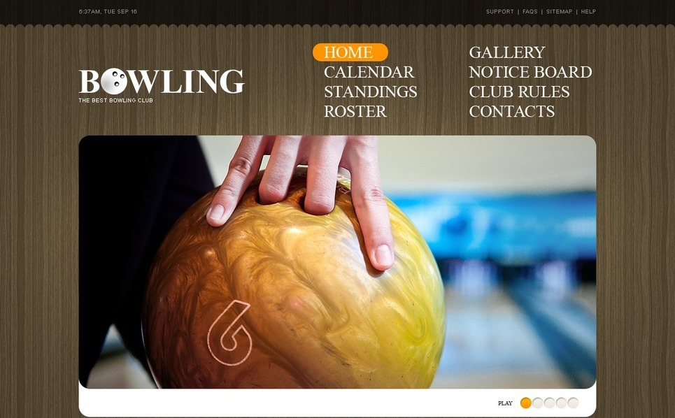 PSD Template over Bowling  New Screenshots BIG