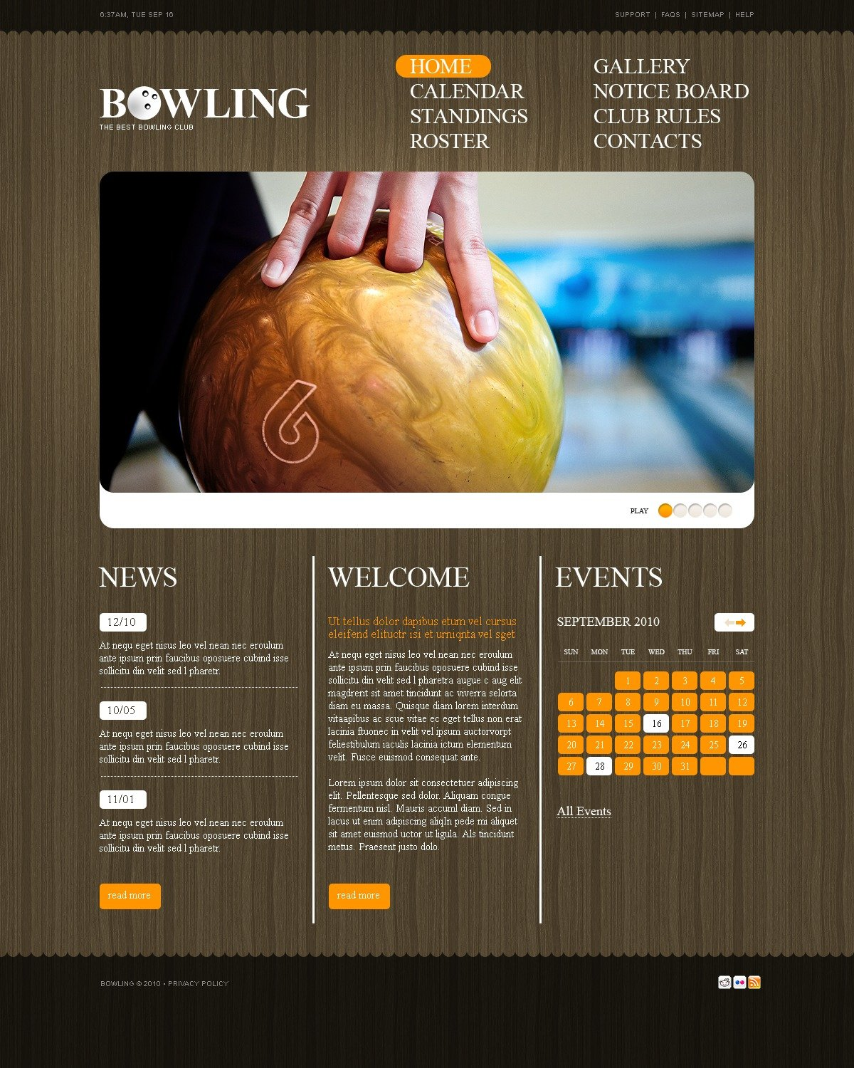 The Bowling Club PSD Design 54418, one of the best PSD templates of its kind (sport, wide, jquery), also known as bowling club PSD template, tournament PSD template, player PSD template, skittles PSD template, ninepins PSD template, game PSD template, sport PSD template, championship PSD template, ball and related with bowling club, tournament, player, skittles, ninepins, game, sport, championship, ball, etc.