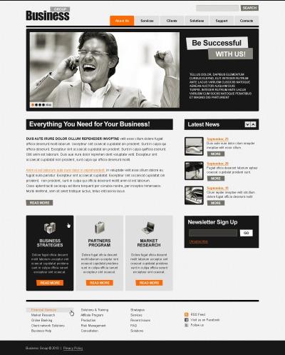 Företag & tjänster PSD-mall