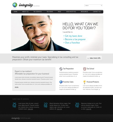 ADOBE Photoshop Template 54420 Home Page Screenshot
