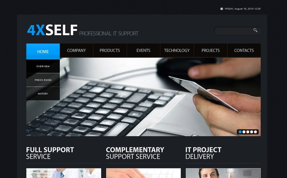 PSD Template over IT  New Screenshots BIG