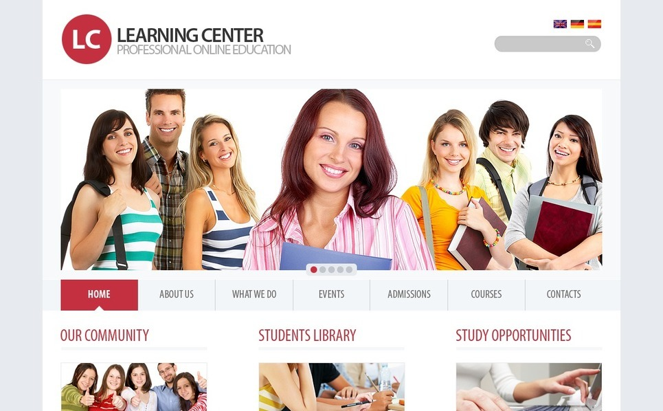 Template Photoshop  para Sites de Educação №54422 New Screenshots BIG