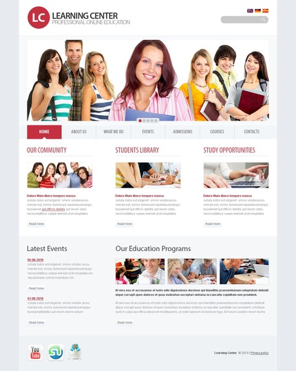 PSD макет сайта №54422