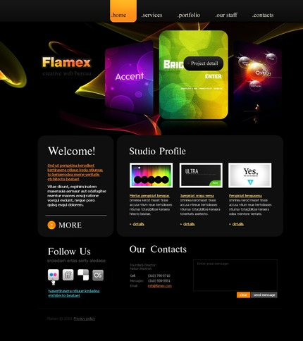 ADOBE Photoshop Template 54426 Home Page Screenshot