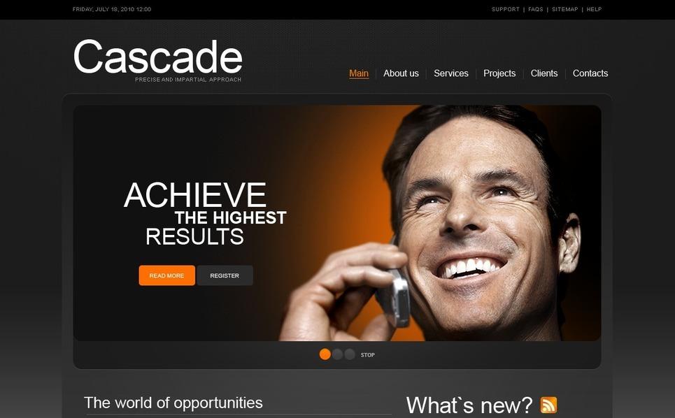 Plantilla PSD #54428 para Sitio de Negocio y Servicios New Screenshots BIG