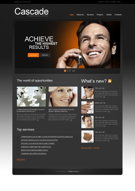 ADOBE Photoshop Template 54428 Home Page Screenshot
