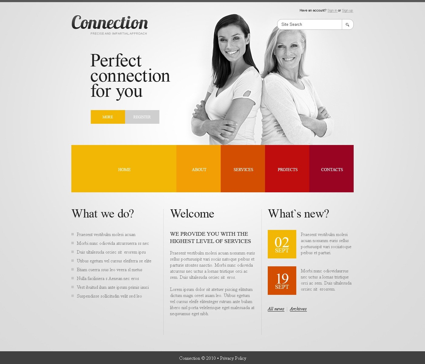 The Connection Communications Company PSD Design 54431, one of the best PSD templates of its kind (wide, jquery, neutral), also known as connection communications company PSD template, communication PSD template, information PSD template, informational PSD template, technologies PSD template, connection PSD template, internet PSD template, mail PSD template, www PSD template, web contact PSD template, transfer and related with connection communications company, communication, information, informational, technologies, connection, internet, mail, www, web contact, transfer, etc.