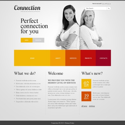 ADOBE Photoshop Template 54431 Home Page Screenshot