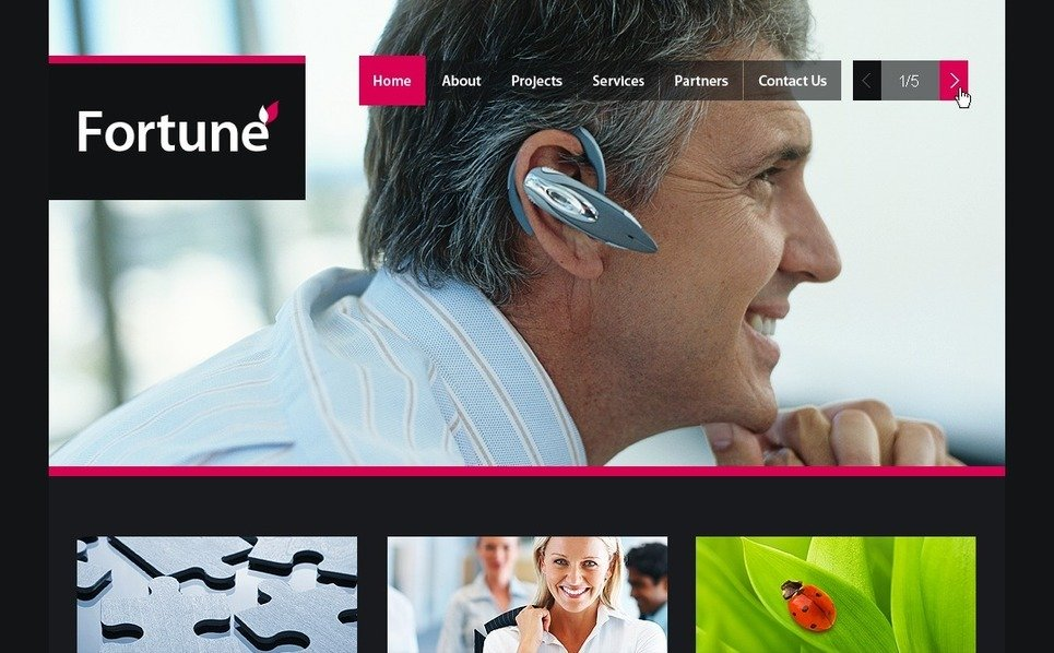 PSD шаблон №54432 на тему Бизнес и услуги New Screenshots BIG