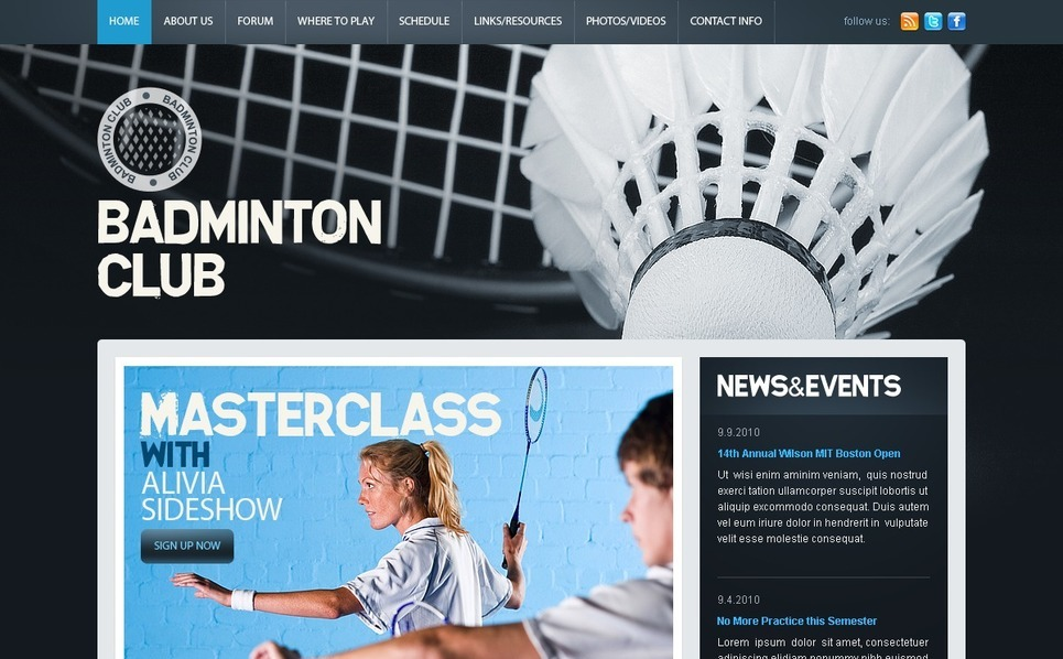 Modèle PSD  pour site de badminton New Screenshots BIG