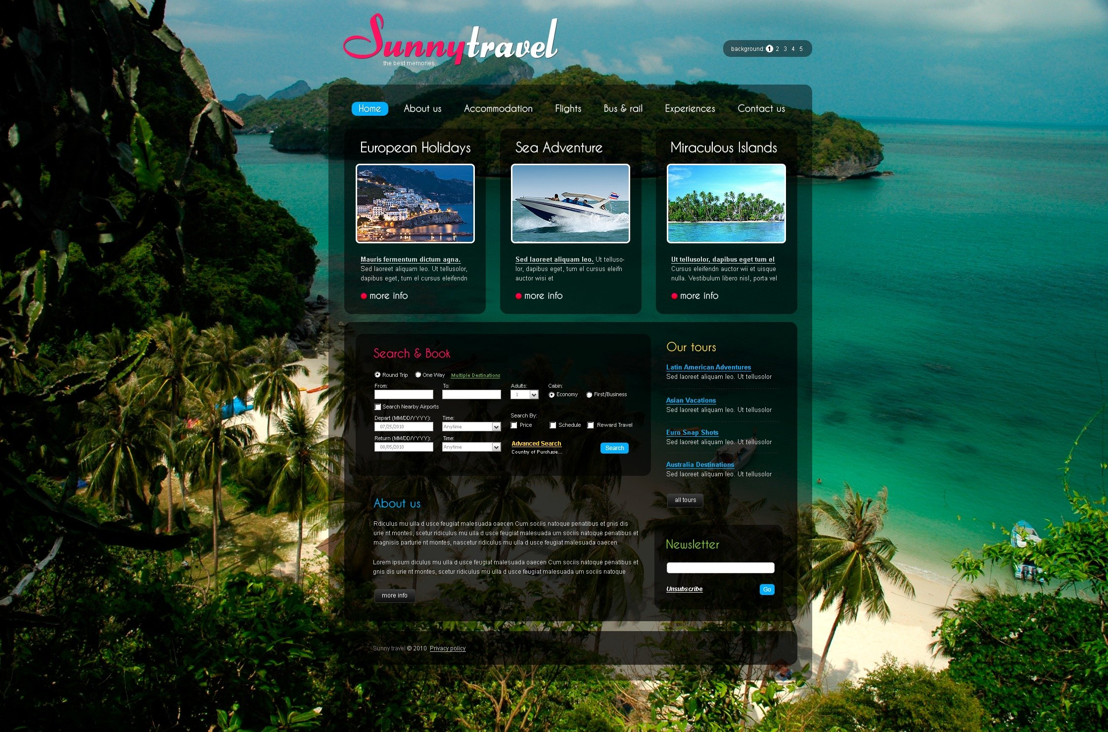 The Sunny Travel Agency PSD Design 54440, one of the best PSD templates of its kind (business, travel, flash 8, wide), also known as sunny travel agency PSD template, compass PSD template, tour country PSD template, resort PSD template, spa PSD template, flight hotel PSD template, car PSD template, rental PSD template, cruise PSD template, sights PSD template, reservation PSD template, location PSD template, authorization PSD template, ticket PSD template, guide PSD template, beach PSD template, sea PSD template, relaxation PSD template, recreation PSD template, impression PSD template, air PSD template, liner PSD template, traveling PSD template, apartment PSD template, vacation PSD template, rest PSD template, comfort PSD template, destination PSD template, expl and related with sunny travel agency, compass, tour country, resort, spa, flight hotel, car, rental, cruise, sights, reservation, location, authorization, ticket, guide, beach, sea, relaxation, recreation, impression, air, liner, traveling, apartment, vacation, rest, comfort, destination, expl, etc.